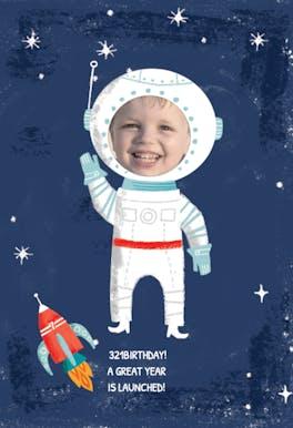 Blast Off - Happy Birthday Card