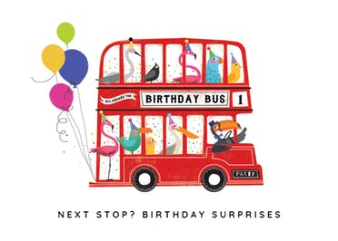 Double-Decker Day - Birthday Card