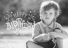 Photo I.D. a birthday card template with a personalized picture