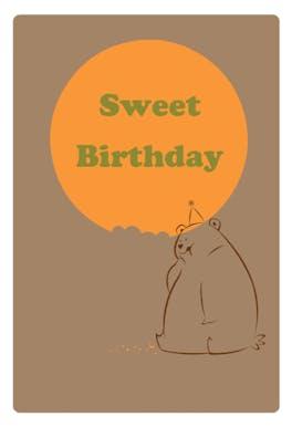 Sweet Birthday - Happy Birthday Card