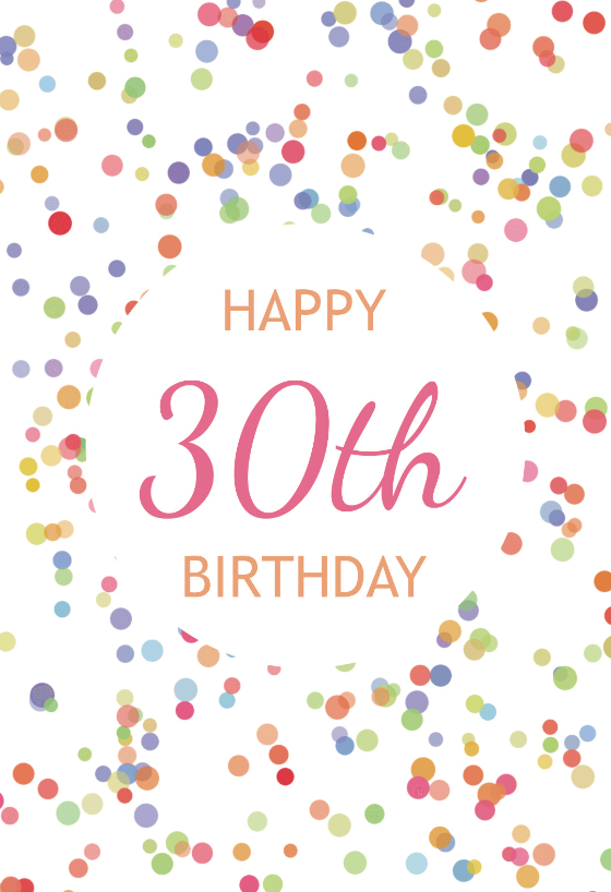 printable 30th birthday card