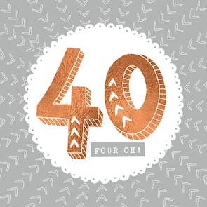 40 and Fine - Printable Birthday Card