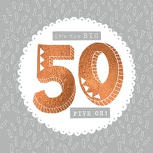 50th hill cresting - Happy Birthday Card