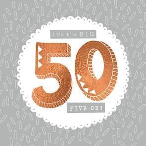 50th hill cresting - Happy Birthday Card