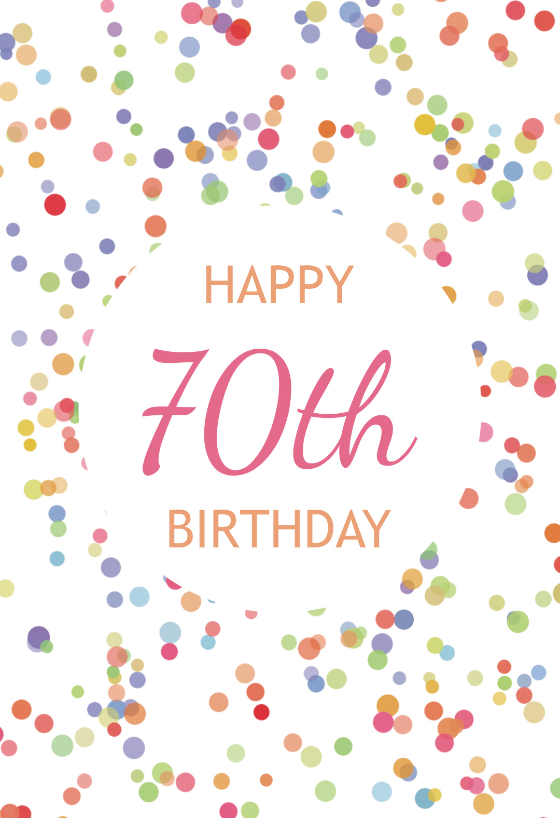 graphic about Free Printable 70th Birthday Cards called 70th Birthday Playing cards (Absolutely free) Greetings Island
