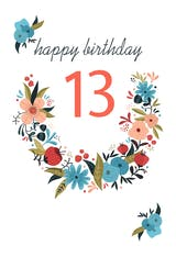 Floral 13 - Birthday Card
