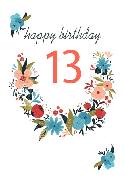 13th Birthday Cards Free