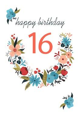 Floral 16 - Birthday Card