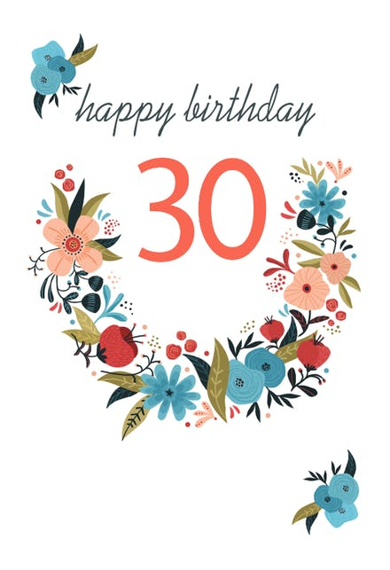 30th Birthday Cards Free