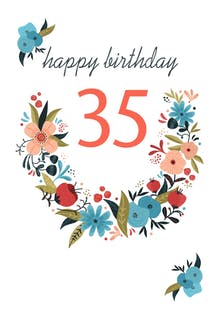 Floral 35 - Birthday Card