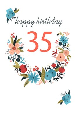 Floral 35 - Birthday Card