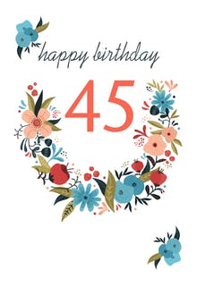 Floral 45 - Birthday Card