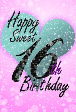 Sweet 16 - Happy Birthday Card