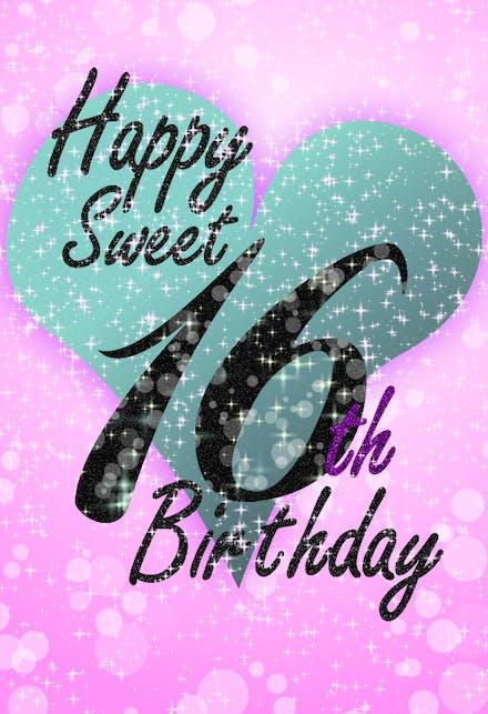 Sweet 16 Birthday Cards Free