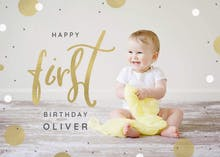 1st confetti - Happy Birthday Card