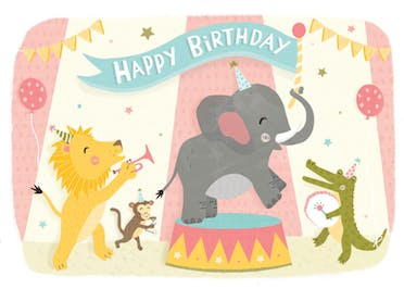 Animal Band - Birthday Card