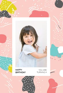 Artistic Painting - Printable Birthday Card