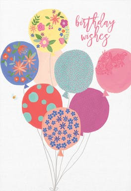 Balloon Bouquet - Happy Birthday Card