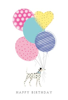 Balloon Holder - Birthday Card