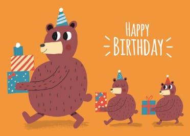 Bearing Gifts - Happy Birthday Card