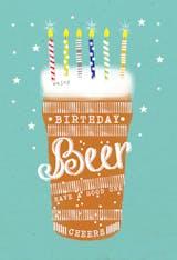 Birthday beer - Happy Birthday Card