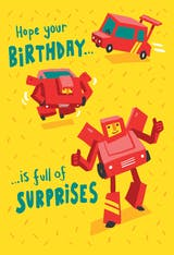 Birthday robot - Happy Birthday Card