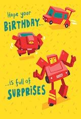 Birthday robot - Happy Birthday Card