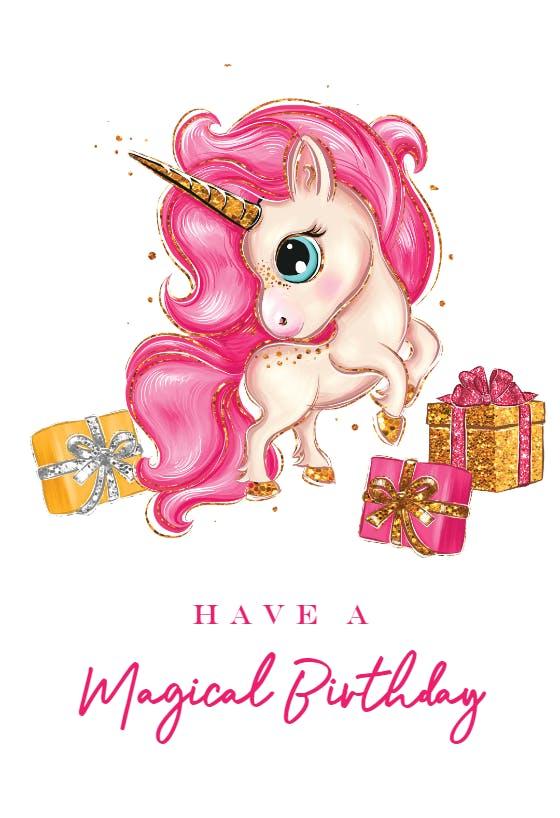 birthday unicorn  birthday card free  greetings island