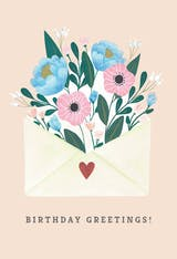 Blooming - Happy Birthday Card