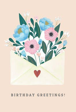 Blooming - Birthday Card