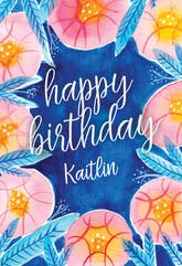 Botanical - Happy Birthday Card