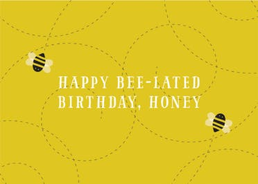Busy Bee - Birthday Card