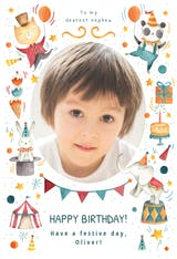 Circus - Happy Birthday Card