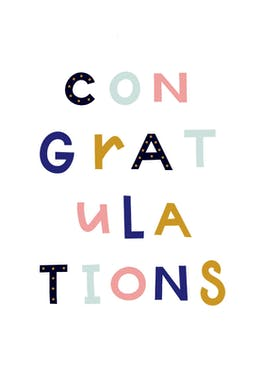 Colorful Congratulations - Retirement Card
