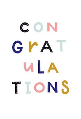 Colorful Congratulations - Congratulations Card