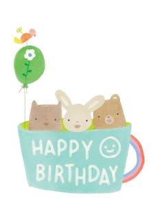 Cuppa Cuties - Birthday Card