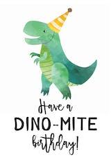 Dino Mite - Happy Birthday Card