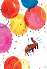 Dog-Gone Balloons - Happy Birthday Card