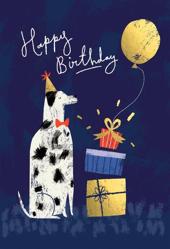 Cute Birthday Dog Card