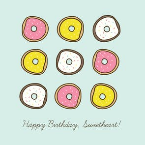 Donut Worry - Happy Birthday Card