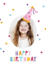 Dots & hat - Happy Birthday Card