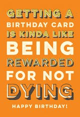Dying Reward - Happy Birthday Card