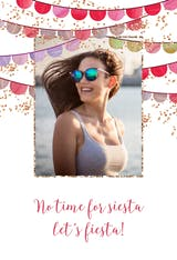 No time for fiesta - Happy Birthday Card