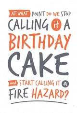 Fire hazard - Happy Birthday Card