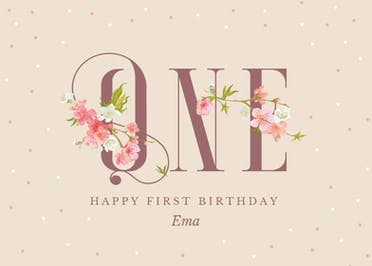 Floral one - Happy Birthday Card