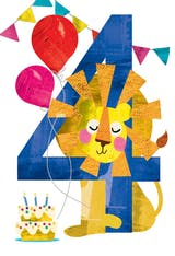 Four you - Happy Birthday Card