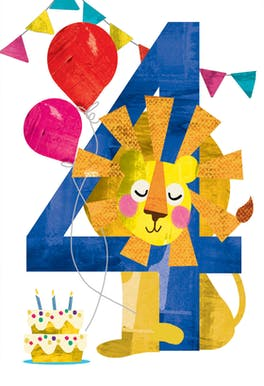 Four you - Birthday Card