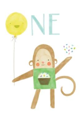 Fun First Birthday - Birthday Card