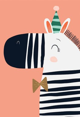 Fun Stripes - Happy Birthday Card