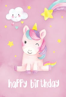 Happiest Unicorn - Happy Birthday Card